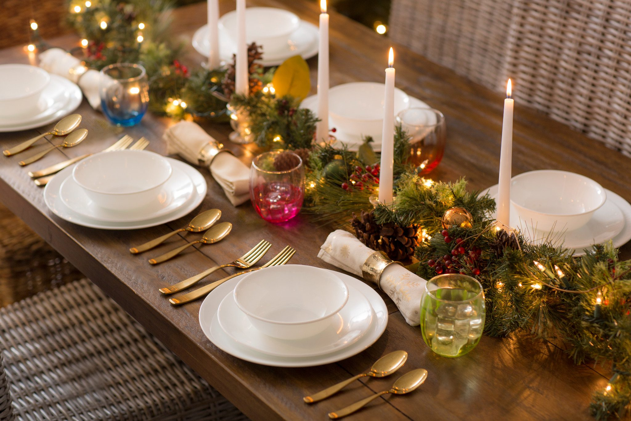 set the table with corelle